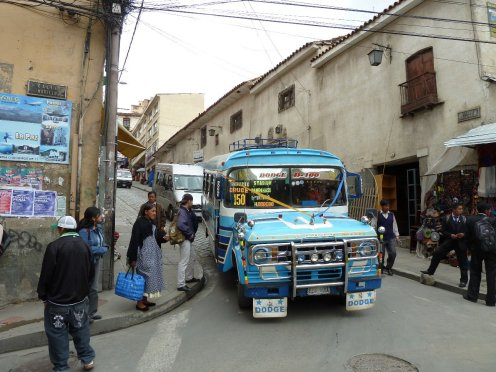 Old Dodge busses are the preferred mode of transport