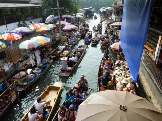 Damnoen Saduak Floating markets, Thailand