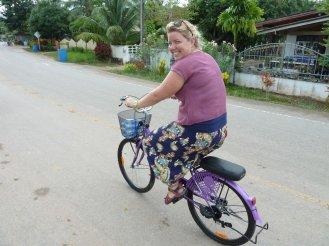 Eva on a bike