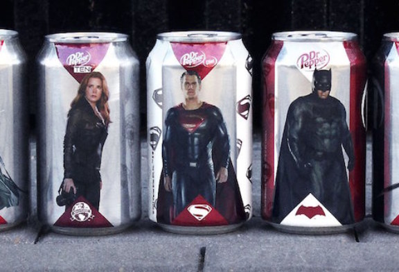Dr. Pepper tie-ins with Batman v. Superman: Dawn of Justice