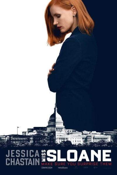 "Poster for the movie ""Miss Sloane"""