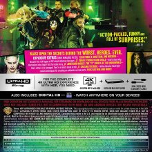 Suicide Squad Blu-Ray Back Cover