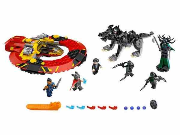 LEGO Super Heroes: The Ultimate Battle For Asgard 76084 contents
