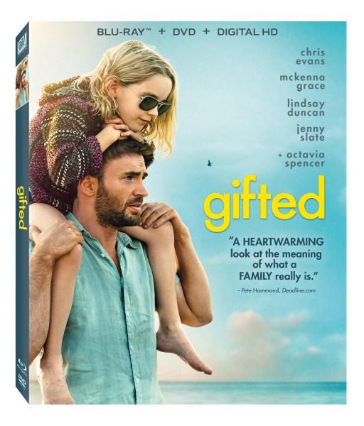 Gifted Blu-Ray/DVD/Digital HD combo cover (20th Century Fox)