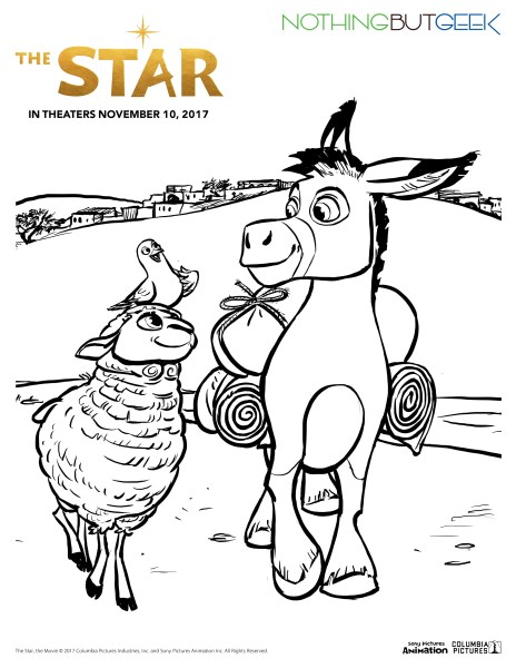 The Star coloring sheet (Sony Pictures Animation/Columbia Pictures)