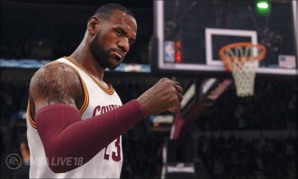 LeBron James from NBA Live '18 (EA Sports)
