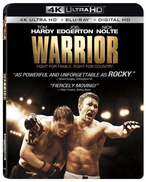 Warrior 4K Ultra HD/Blu-Ray/Digital HD cover (Lionsgate Home Entertainment)