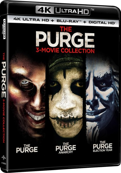 The Purge: 3-Movie Collection 4K Ultra HD/Blu-Ray/Digital HD (Universal Pictures Home Entertainment)