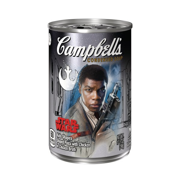 Campbell's Condensed Soup Star Wars Kids Shapes Finn label