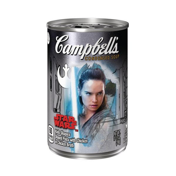 Campbell's Condensed Soup Star Wars Kids Shapes Rey label