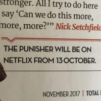 The Punisher Release Date Leak?