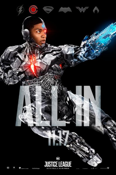 Justice League Cyborg character poster (Warner Bros. Pictures)
