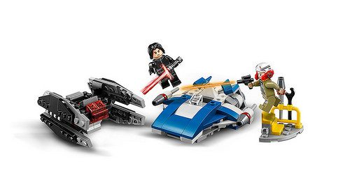 LEGO Star Wars A-Wing vs. TIE Silencer Microfighters 75197