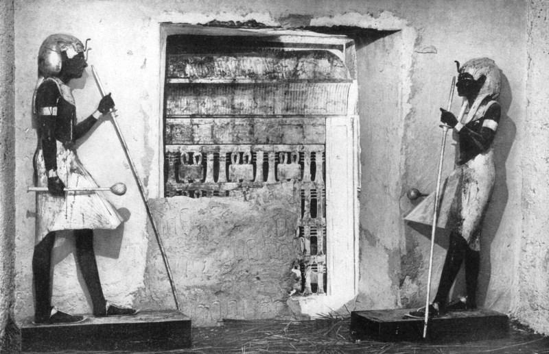 The first glimpse of Tutankhamun's tomb, Egypt, 1933-1934.