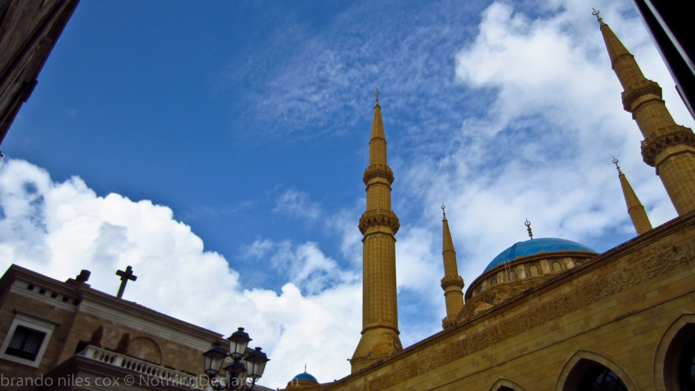 Mohammad Al-Amin Mosque next to a Christian Church, Beirut, Lebanon