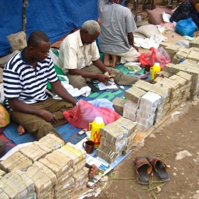 Money changers Hargeisa, Somalia (Somaliland)
