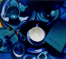 40 Shades of Blue// Oil on Panel//Anne Belov //all rights reserved