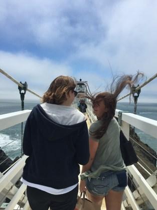 Ma girls at Bonita lighthouse