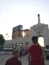 With my hostfamily at the USC Trojans Game, Memorial Coliseum L.A.