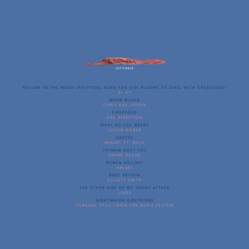 september mix tracks