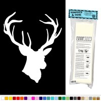 Deer Head - Vinyl Sticker Decal Wall Art Decor | eBay