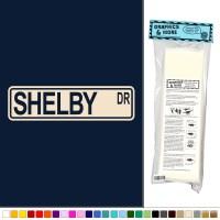 Shelby Street Sign - Vinyl Sticker Decal Wall Art Decor