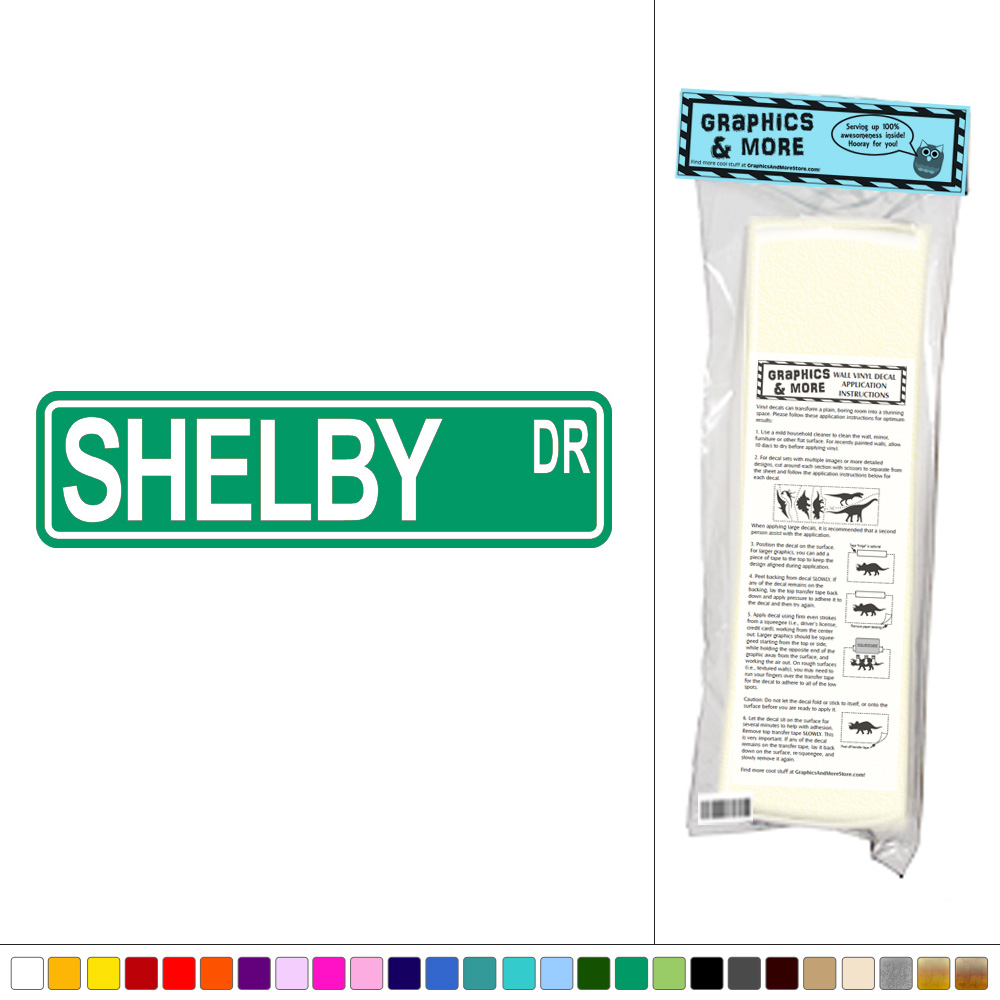 Shelby Street Sign