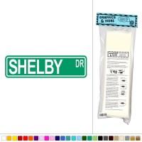 Shelby Street Sign - Vinyl Sticker Decal Wall Art Decor | eBay