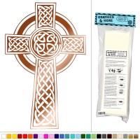Celtic Cross Knotted - Vinyl Sticker Decal Wall Art Decor ...