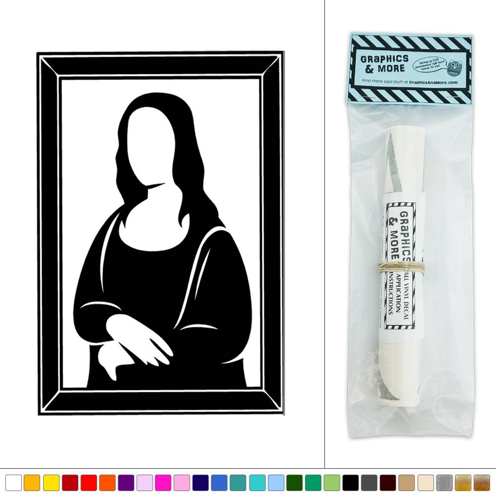 Mona Lisa Vinyl Sticker Decal Wall Art Dcor