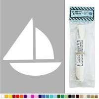 Simple Sailboat Boat Vinyl Sticker Decal Wall Art Dcor   eBay