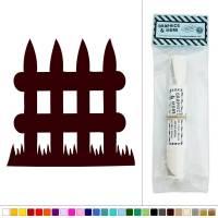 Small Picket Fence Vinyl Sticker Decal Wall Art Dcor | eBay