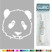 Panda Face Realistic Bear Cute Vinyl Sticker Decal Wall ...