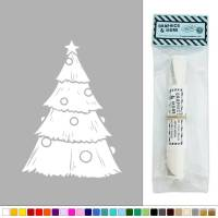 Christmas Tree Decorated Silhouette Vinyl Sticker Decal