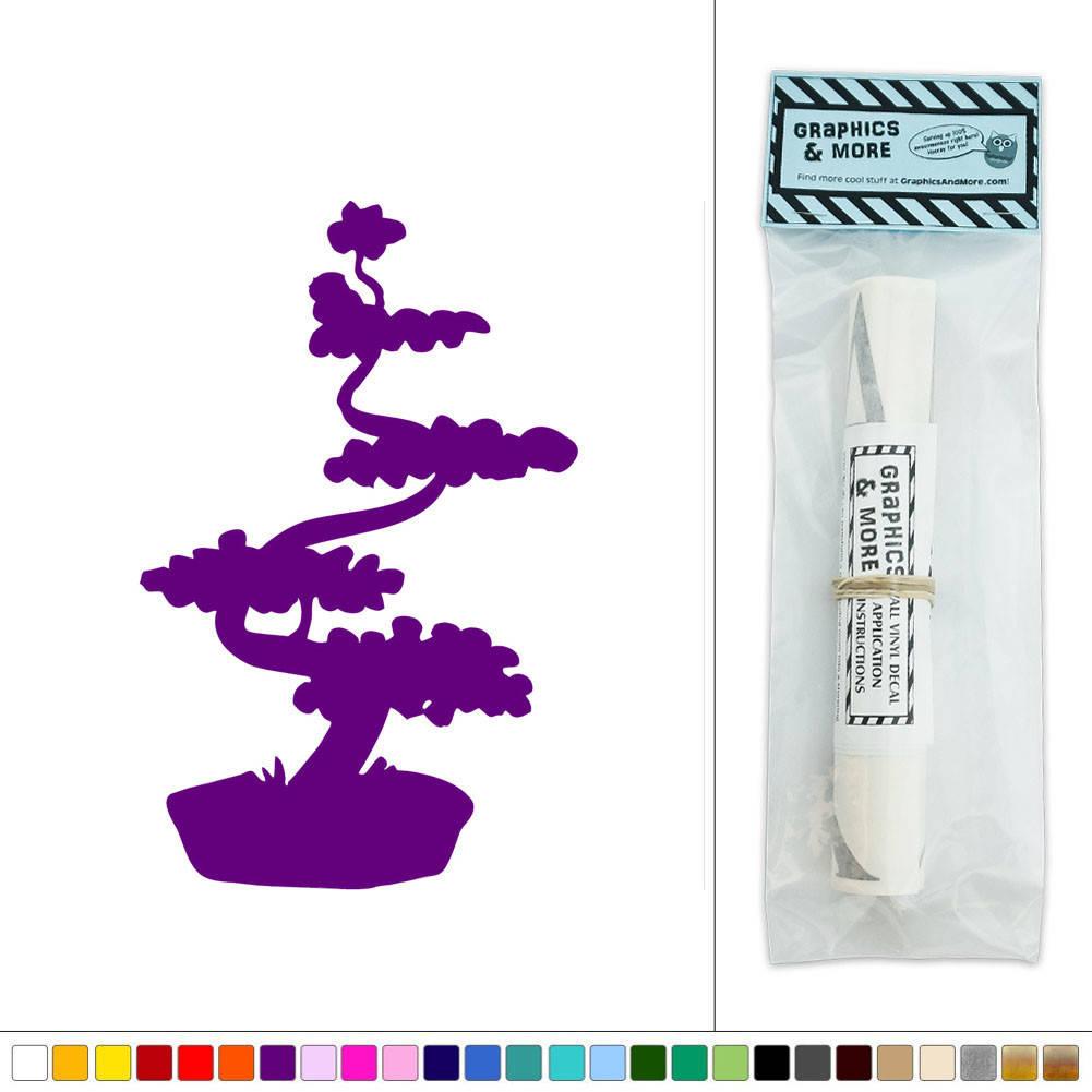 Bonsai Tree Japanese Vinyl Sticker Decal Wall Art Dcor