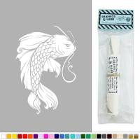 Koi Fish Japanese Vinyl Sticker Decal Wall Art Dcor | eBay