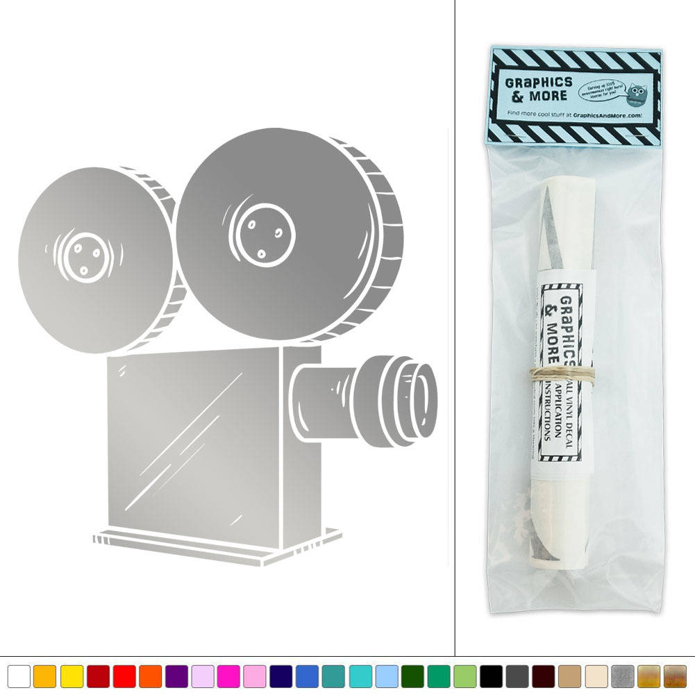 Movie Projector Film Vinyl Sticker Decal Wall Art Dcor
