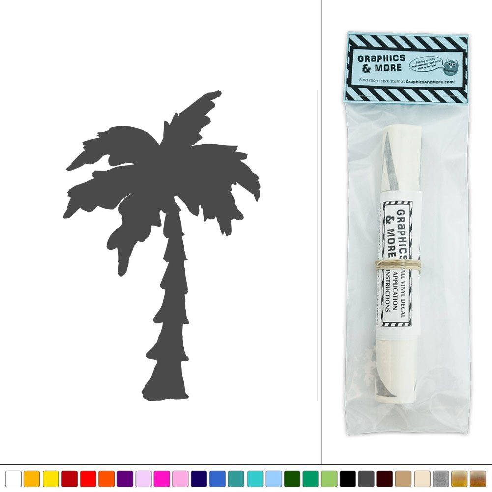 Palm Tree Silhouette Vinyl Sticker Decal Wall Art Dcor