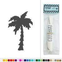 Palm Tree Silhouette Vinyl Sticker Decal Wall Art Dcor