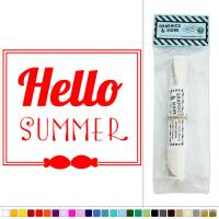 Hello Summer Framed Vinyl Sticker Decal Wall Art Dcor | eBay