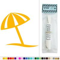 Beach Umbrella Simple Summer Fun Vinyl Sticker Decal Wall ...