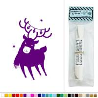 Reindeer Christmas Lights Vinyl Sticker Decal Wall Art ...