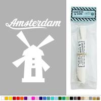 Amsterdam Dutch Windmill Netherlands Vinyl Sticker Decal ...