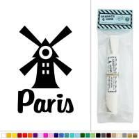 Paris Windmill Red Cabaret France Vinyl Sticker Decal Wall ...
