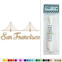 San Francisco Golden Gate Bridge California Vinyl Sticker ...