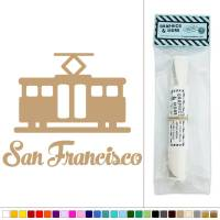 San Francisco Cable Trolley Street Car Vinyl Sticker Decal ...