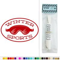 Winter Sports Ski Goggles Skiing Vinyl Sticker Decal Wall ...