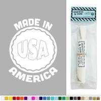 Made in America USA Badge Vinyl Sticker Decal Wall Art ...