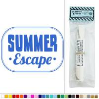 Summer Escape Holiday Vacation Vinyl Sticker Decal Wall ...