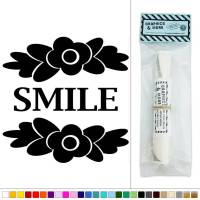 Smile with Flowers Vinyl Sticker Decal Wall Art Dcor | eBay